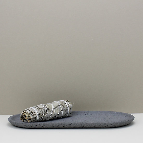 Grey Granite Decorative Tray