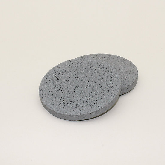 Grey Granite Coasters Set of 2