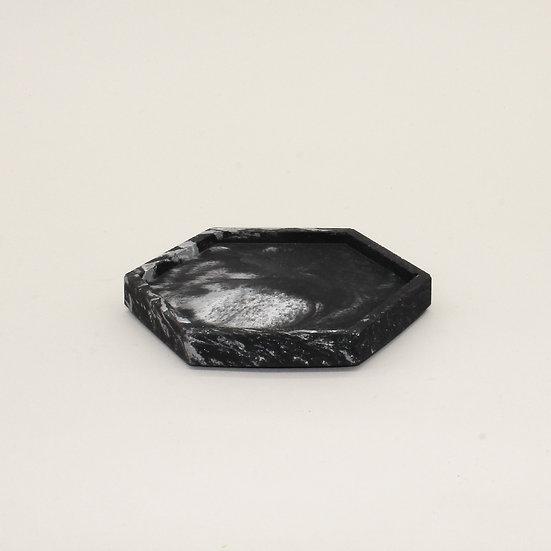 Black Marble Trinket Tray