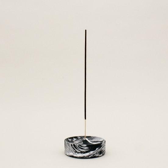 Black Marble Curve Incense Holder