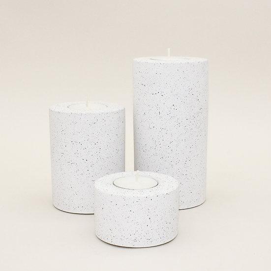 White Granite Tealight Holder