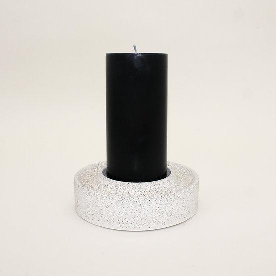 Pebble Stone Large Pillar Candle Holder