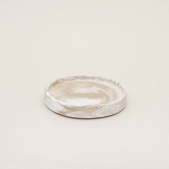 Beige Marble Trinket Tray
