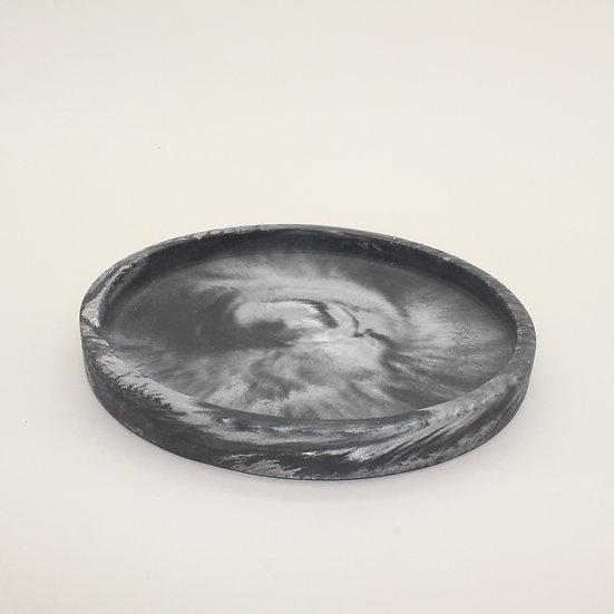 Black Marble Large Decorative Tray