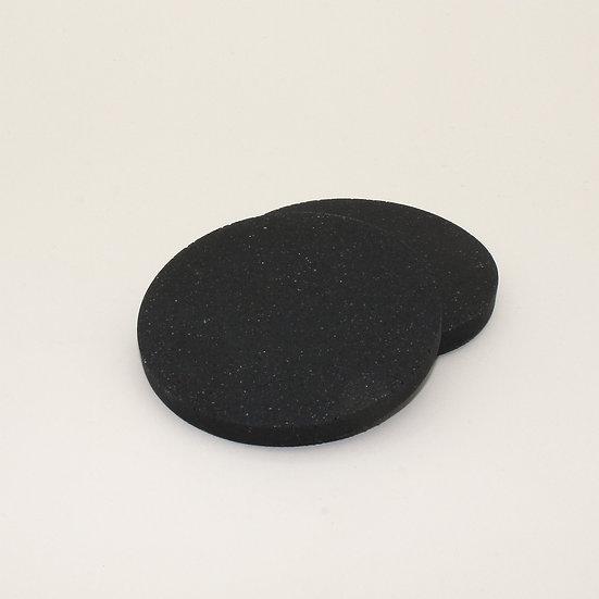 Black Granite Coasters Set of 2