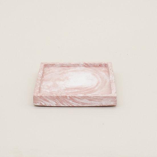 Pink Marble Trinket Tray