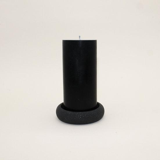 Black Granite Stackable Pillar Candle Holder
