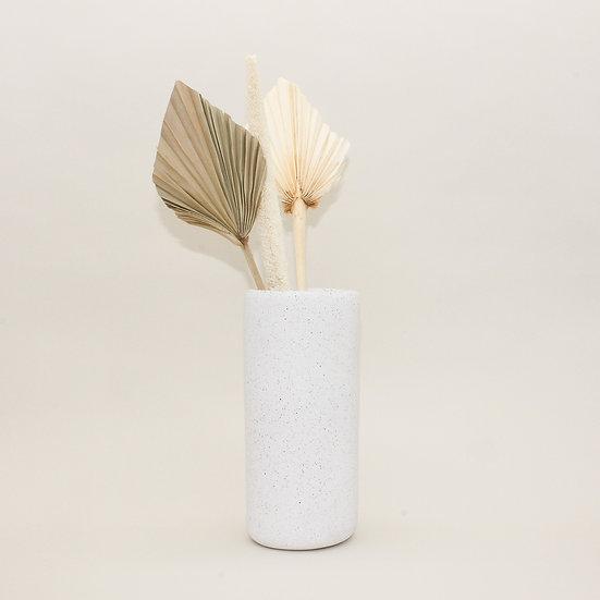 White Granite Large Vase