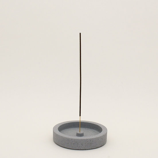 Grey Granite Small Incense Holder