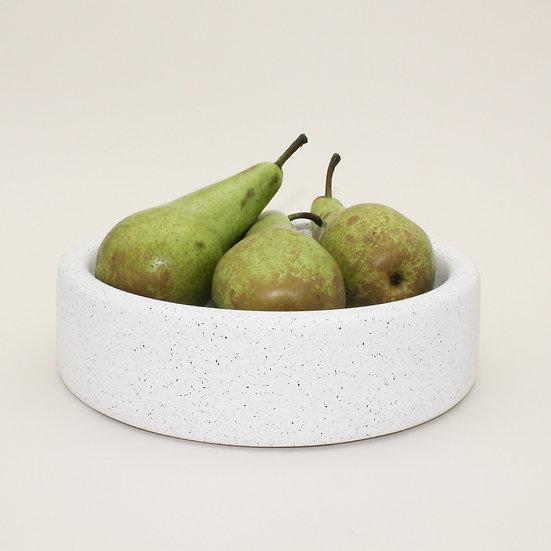 White Granite Large Decorative Bowl
