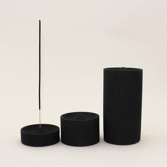 Black Granite Curve Incense Holder
