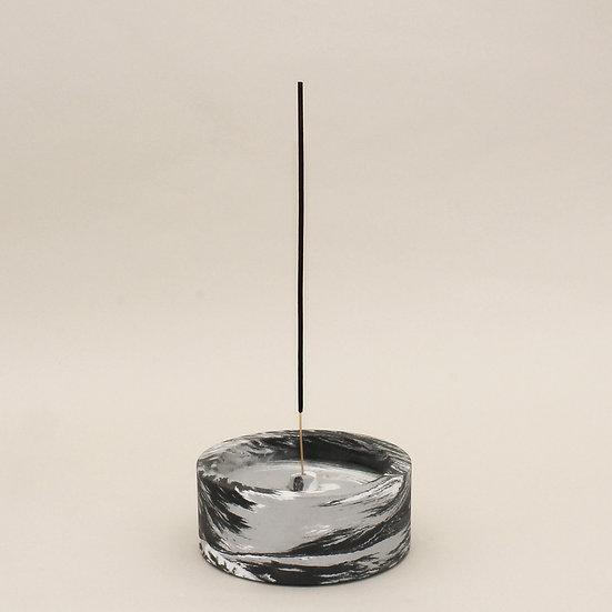 Black Marble Large Incense Holder