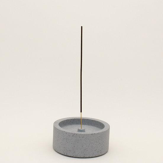 Grey Granite Large Incense Holder