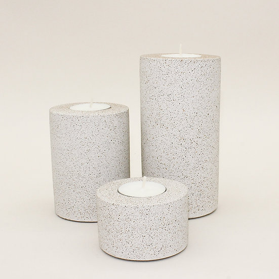 Pebble Stone Concrete Tealight Holder