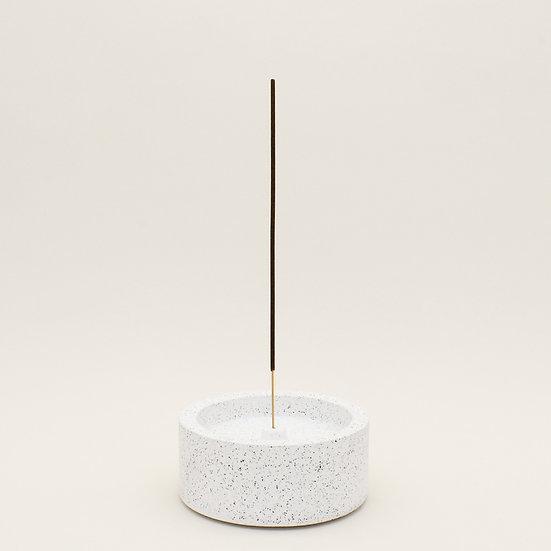 White Granite Large Incense Holder