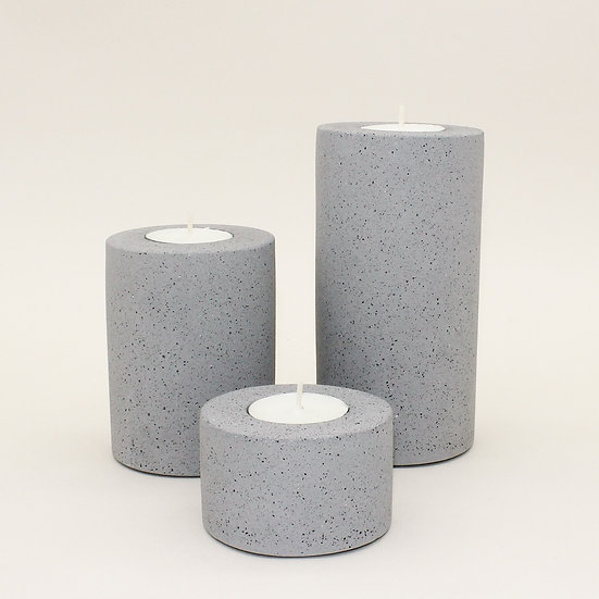 Grey Granite Tealight Holder