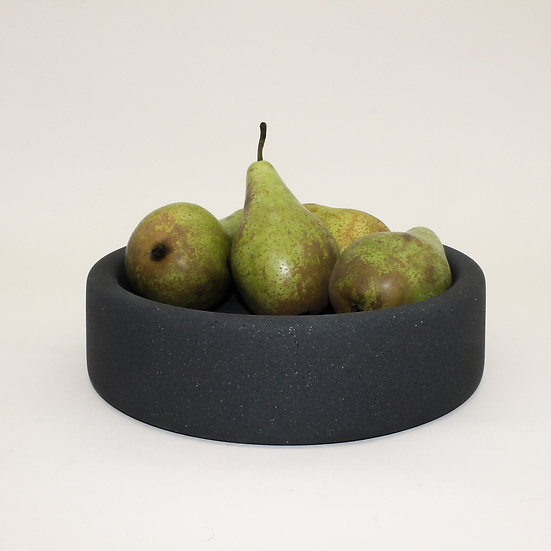 Black Granite Large Decorative Bowl