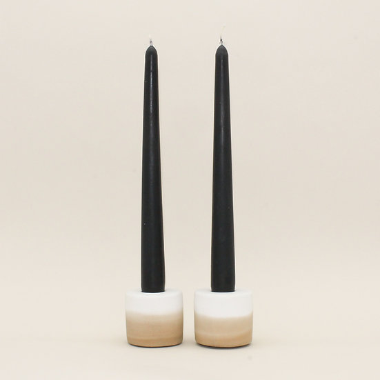 Beige Ombre Candlestick Holders Set of 2