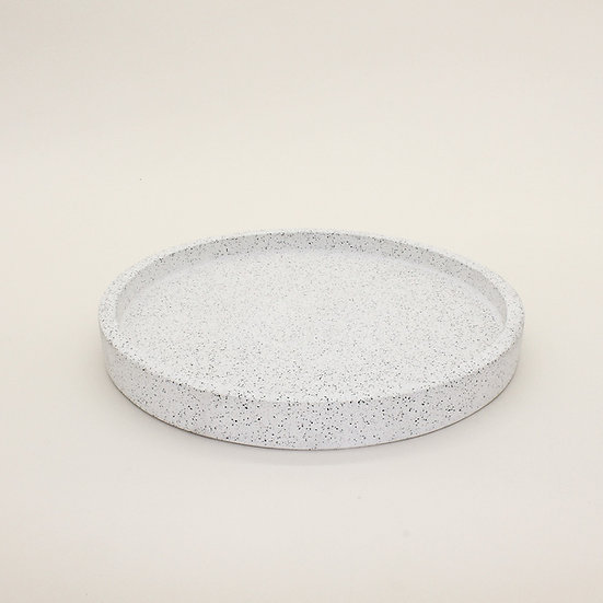 White Granite Large Decorative Tray