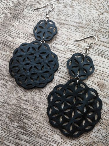 UPCYCLED FLOWER OF LIFE EARRING