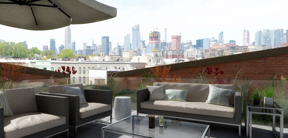 Roof Top Terrace with NYC Views