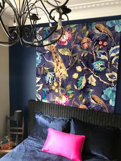 blue velvet bedroom