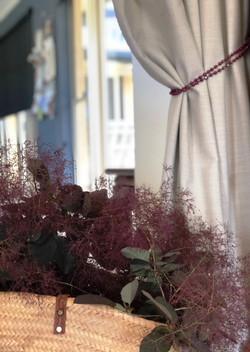 curtain with smoke bush