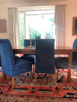 blue apholstered chairs