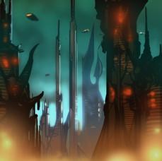 Spider-Man Unlimited - Dark Alien World Environment Concept 2