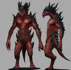 Reptilian Race Character Concept - Personal Project