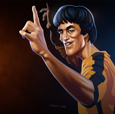 Bruce Lee stylized
