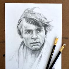 Pencil Study Luke Skywalker
