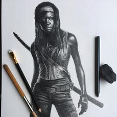 Pencil Study Michonne