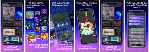 GameClub App Store Screen