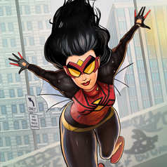 New Spider Woman Character Art