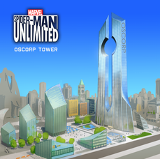 Spider-Man Unlimited - Oscorp Headquaters New York - Building Concept