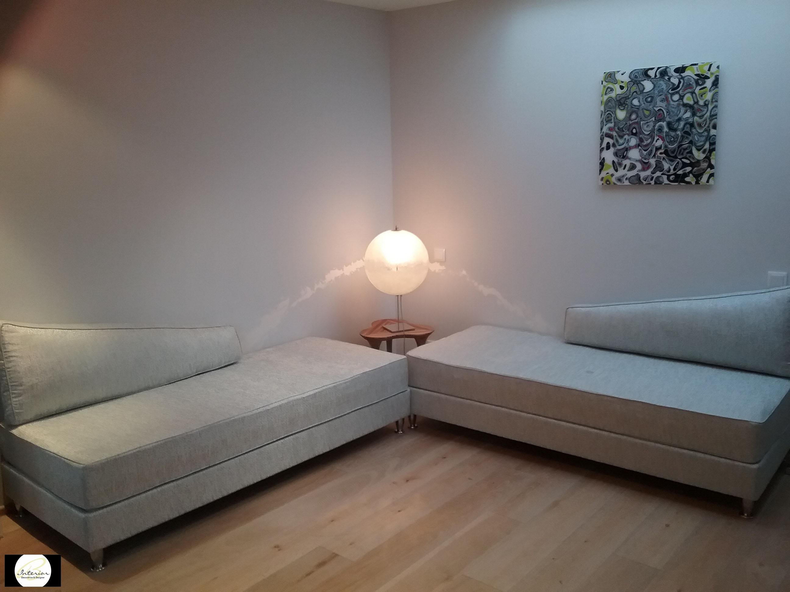 Espace salon/chambre d'amis après