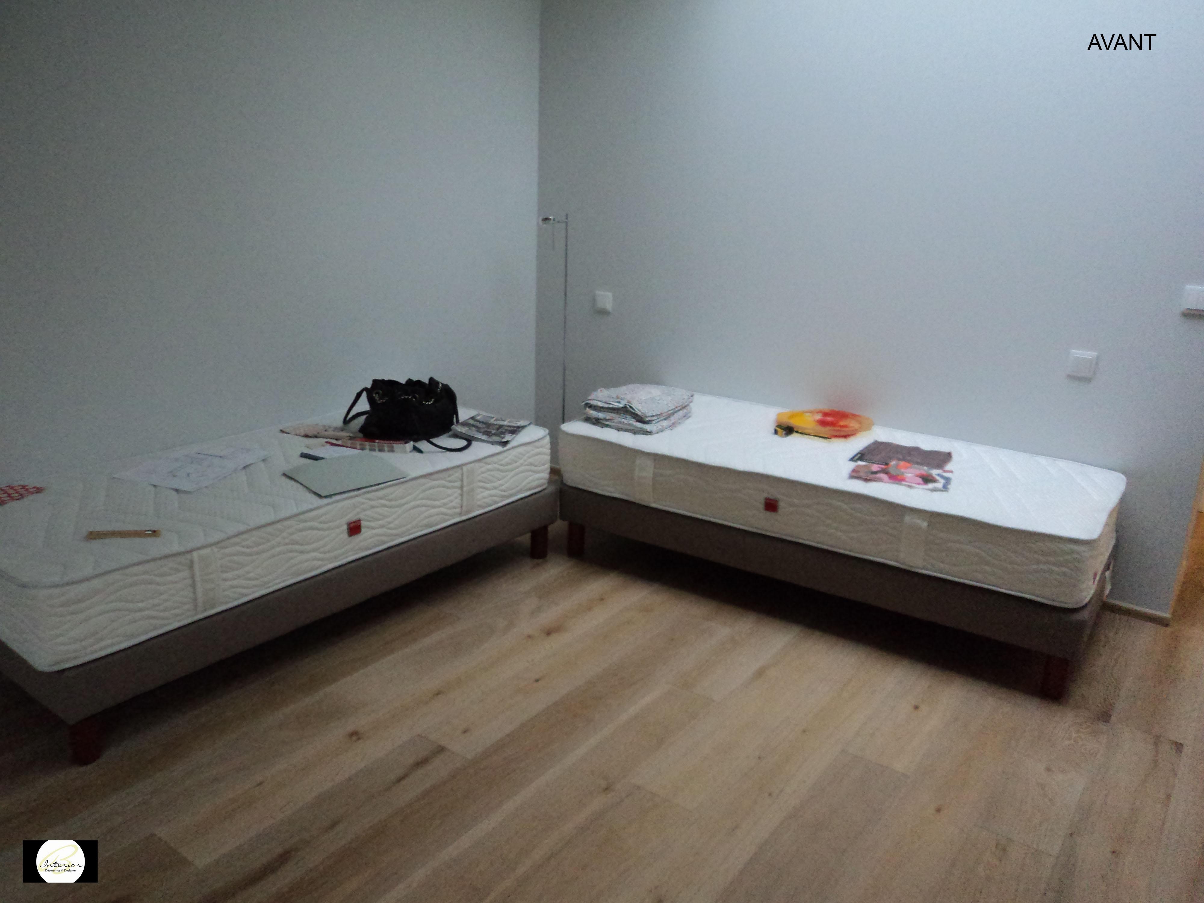 Espace salon/chambre d'amis avant