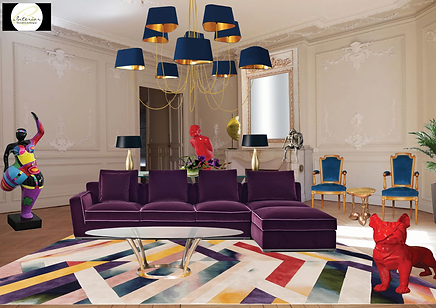 #artmosphere #artcontemporain #salon #decor #deco #decoration #architecturedinterieur #salonhaussmanien #hausmannien #stylecontemporain #styleeclectique #eclectique #couleurs #colors