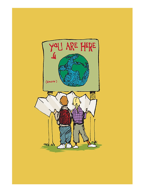 You Are Here (9x12 print)