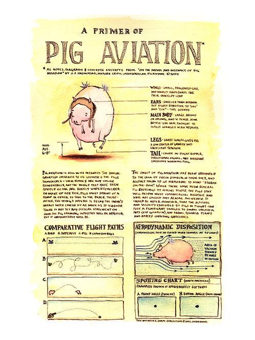 Primer of Pig Aviation (9x12 print)