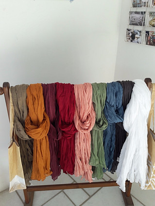 Chèches en coton aux couleurs de l'automne !