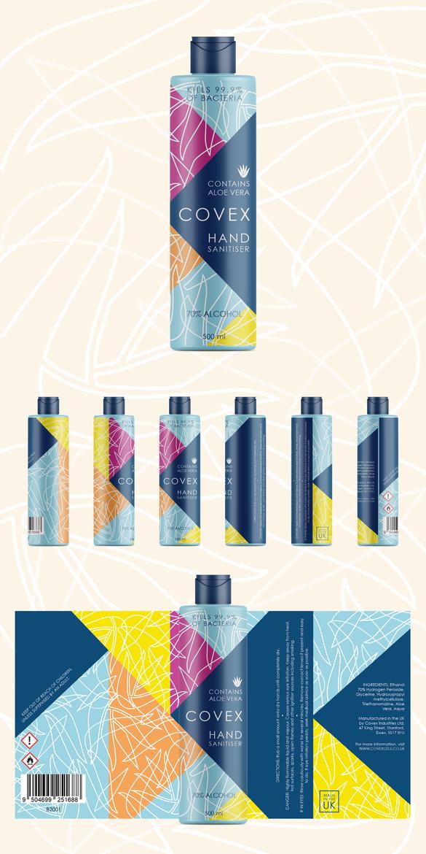 Label Concept for Covex Hand Sanitiser