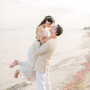 Xiomara + Brian's Fairfield Beach Wedding