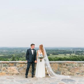 Renée + Justin's Bluemont Vineyard Wedding