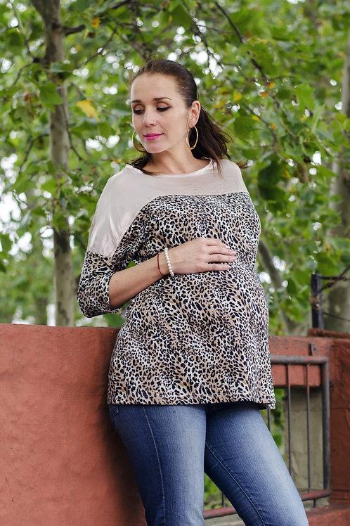 Blusa embarazo animal print