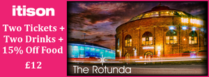 Two tickets to the Rotunda Comedy Club inc. a welcome drink each for only £12.00