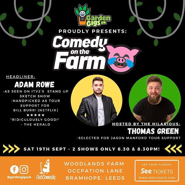 Leeds garden gig adam rowe