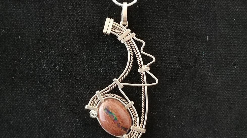 opale de feu et argent 925