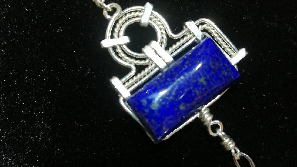 Bracelet en lapis lazuli et argent 925